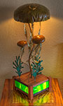 Jellyfish Lamp - Copper Metal Art Sculpture by Gary Regner