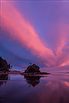 Sea Stack Neon - Washington Coast, Olympic National Park Sunset Landscape by Gary Regner