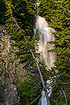 Snow Melt - Washington, Mount Rainier Waterfall Landscape by Gary Regner