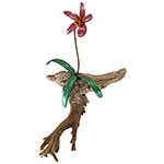 Orchid on Driftwood - Copper Metal Art Sculpture by Gary Regner